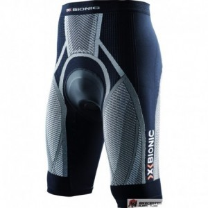 X-BIONIC Men Bike The Trick Pants short, black white, S-XXL